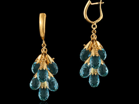 Earrings with precious jewelry stones in St. Ann, MO.